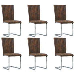 Jedálenská stolička 6 ks umelá koža Dekorhome Vínová vyobraziť