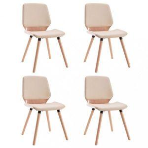 Jedálenská stolička 4 ks Dekorhome Krémová vyobraziť