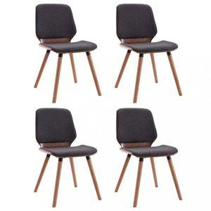 Jedálenská stolička 4 ks Dekorhome Sivá vyobraziť