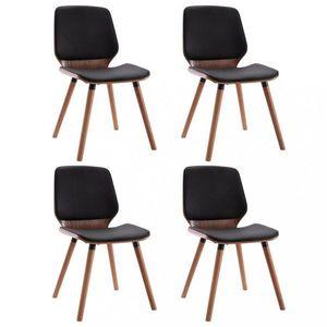 Jedálenská stolička 4 ks Dekorhome Čierna / hnedá vyobraziť