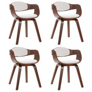Jedálenská stolička 4 ks Dekorhome Biela vyobraziť