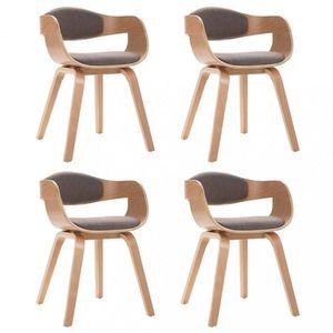 Jedálenská stolička 4 ks umelá koža / drevo Dekorhome Hnedá vyobraziť