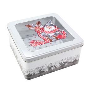 Dóza na vianočné pečivo 18x18x8, 6cm Santa vyobraziť