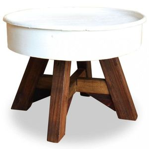 Konferenčný stolík hnedá / biela Dekorhome vyobraziť