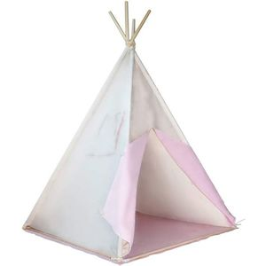 Detský stan teepee, ružovo/béžový, s príslušenstvom vyobraziť
