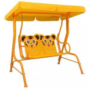 Detská hojdacia lavica Dekorhome Žltá vyobraziť