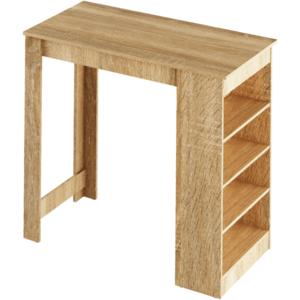 Barový stôl s regálom AUSTEN Tempo Kondela Dub sonoma vyobraziť