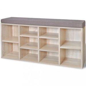 Botníková lavice látka / drevo Dekorhome Dub vyobraziť