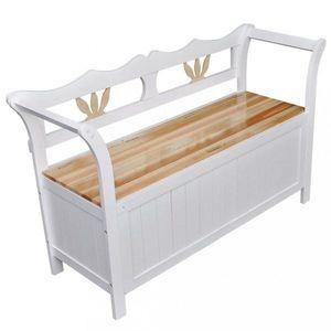 Úložná lavica biela Dekorhome vyobraziť