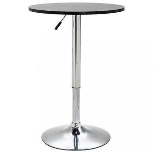 Barový stôl Ø 60 cm Dekorhome Čierna vyobraziť
