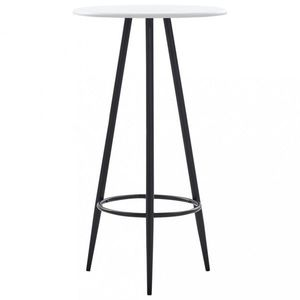 Barový stôl Ø 60cm Dekorhome Biela vyobraziť