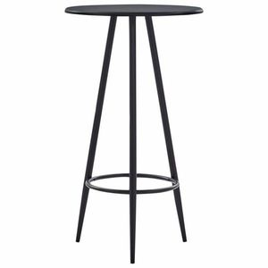 Barový stôl Ø 60cm Dekorhome Čierna vyobraziť