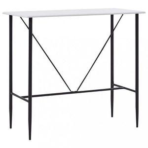 Barový stôl 120x60 cm Dekorhome Biela vyobraziť