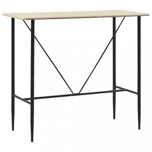 Barový stôl 120x60 cm Dekorhome Dub vyobraziť