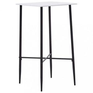 Barový stôl 60x60cm Dekorhome Biela vyobraziť