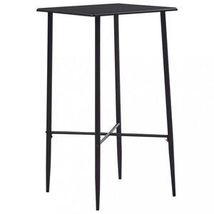 Barový stôl 60x60cm Dekorhome Čierna vyobraziť