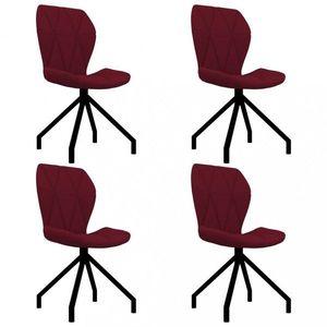 Jedálenská stolička 4 ks umelá koža Dekorhome Vínová vyobraziť