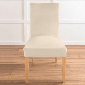 Bi-pružný poťah na stoličku s efektom ve béžová jednotlivo vyobraziť
