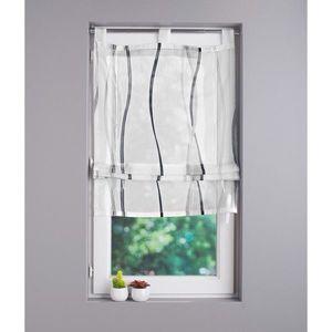 Záclona biela/sivá 45x160cm vyobraziť