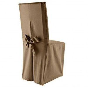 Poťah na stoličku hnedosivá súpr. 2 kusů vyobraziť