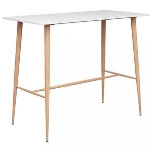 Barový stôl MDF / kov Dekorhome Biela vyobraziť