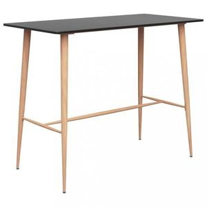 Barový stôl MDF / kov Dekorhome Čierna vyobraziť