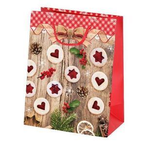 TORO Papierová vianočná dárčeková taška TORO 23x18x10cm linecké vyobraziť