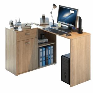 PC stôl rohový KALIMERO Tempo Kondela Dub sonoma vyobraziť