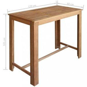 Barový stôl hnedá Dekorhome 120x60 cm vyobraziť