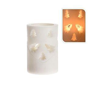 LED vianočná sviečka 10 cm STROMČEK vyobraziť