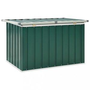 Záhradný úložný box pozinkovaná oceľ Dekorhome Zelená vyobraziť