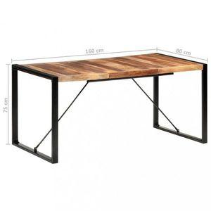 Jedálenský stôl masívne drevo / kov Dekorhome 160x80x75 cm vyobraziť