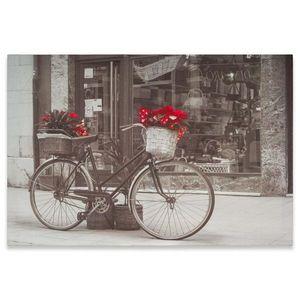 Nástenná maľba bicykel s vianočnou hviezdou, 40 x 60 cm vyobraziť