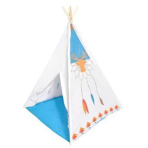Detský stan Indiánsky vigvam IPLAY modro-biely vyobraziť