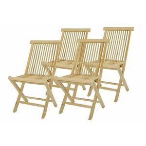 Skladacia stolička z teakového dreva DIVERO, 4 kusy vyobraziť