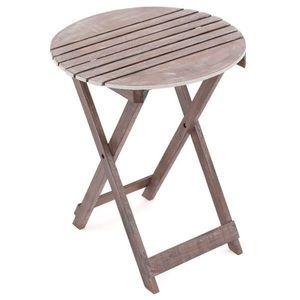 DIVERO záhradný sklopný stolík okrúhly, 60 cm vyobraziť