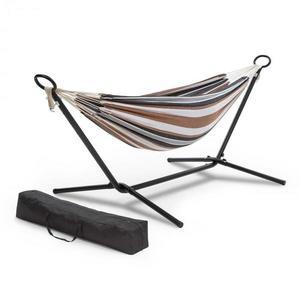 Blumfeldt Sri Lanka Swing, hojdacia sieť, oceľový rám, nosnosť max. 160 kg, pruhovaná vyobraziť