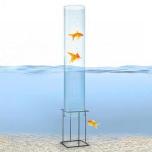Blumfeldt Skydive 100, pozorovateľňa rýb, 100 cm, Ø 20 cm, akryl, kov, transparentná vyobraziť