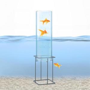 Blumfeldt Skydive 60, pozorovateľňa rýb, 60 cm, Ø 20 cm, akryl, kov, transparentná vyobraziť