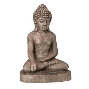 Blumfeldt Gautama, záhradná socha, 43 x 61 x 34 cm, fibreclay, hnedá vyobraziť