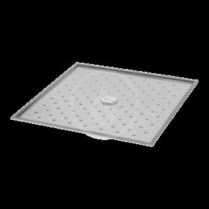 SANELA - Zahradní bazénové sprchy Sprchová vanička z nehrdzavejúcej ocele, 1000x1000x15 mm SLSN 10 vyobraziť