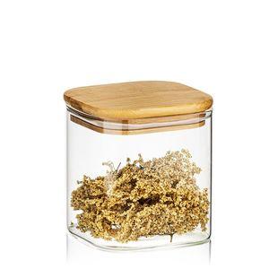 4Home Sklenená dóza na potraviny s viečkom Bamboo, 550 ml vyobraziť