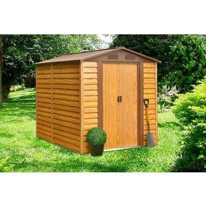 Záhradný domček 236 x 195 cm kovový Dekorhome vyobraziť