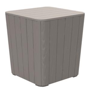 Záhradný stolík / úložný box IBLIS Tempo Kondela Sivohnedá vyobraziť