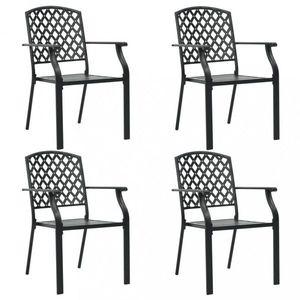 Stohovateľné záhradné stoličky 4 ks čierna Dekorhome vyobraziť