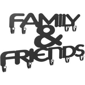 Nástenný vešiak s deviatimi háčikmi, Family & Friends vyobraziť