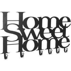 Nástenný vešiak so šiestimi háčikmi, Home Sweet Home vyobraziť