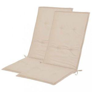 Vodeodolné podušky na záhradné stoličky 2 ks Dekorhome Krémová vyobraziť