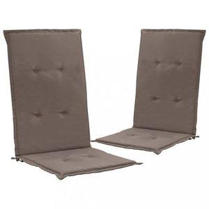Vodeodolné podušky na záhradné stoličky 2 ks Dekorhome Sivohnedá vyobraziť