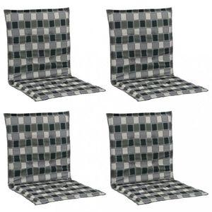 Vodeodolné podušky na záhradné stoličky 4 ks Dekorhome Čierna / biela vyobraziť